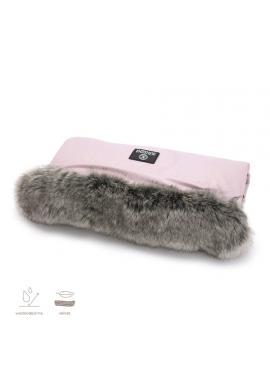Vodeodolný rukávnik na madlo kočiara - v práškovo ružovej farbe