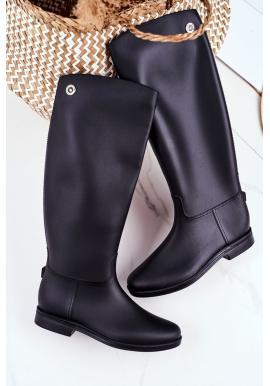 Trendy dámske gumáky čiernej farby