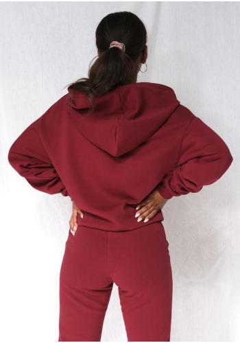 Červené športové tepláky s vreckami pre dámy