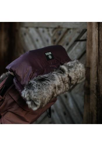 Vodeodolný rukávnik na madlo kočiara - vo fialovej farbe
