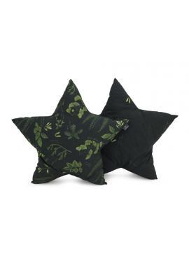 Vankúš v tvare hviezdy s bylinkovým motívom