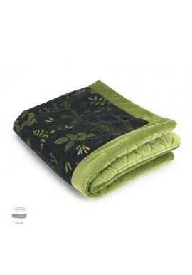 Teplá zamatová deka pre deti s bylinkovým motívom