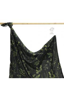 Bambusová deka na leto s bylinkovým motívom