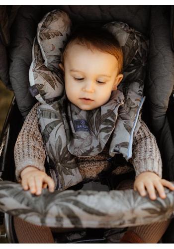Obojstranné ochranné kryty na pásy do kočiara s motívom opíc - zamat