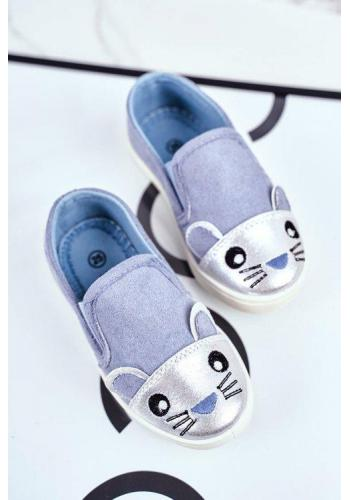 Modré tenisky s myškou pre dievčatá