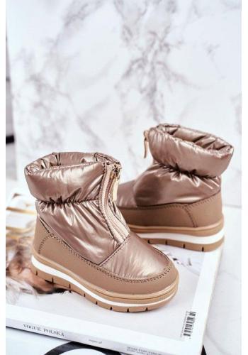 Zlaté vlnené snehule pre dievčatá