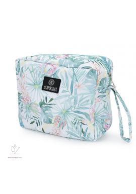Vodeodolný kozmetický kufrík s tropickým motívom