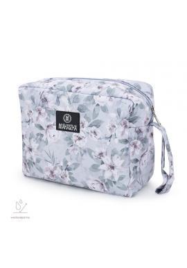 Vodeodolný kozmetický kufrík s vintage kvetmi
