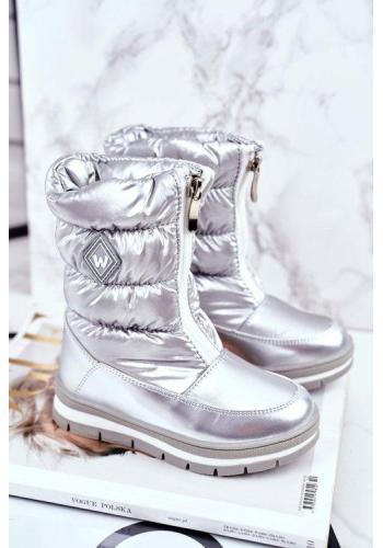 Metalické sivé oteplené snehule pre dievčatá