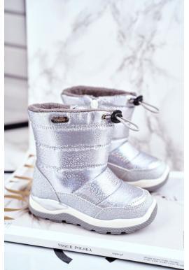 Strieborné oteplené snehule pre dievčatá