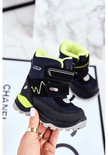 Detské zimné topánky tmavomodrej farby