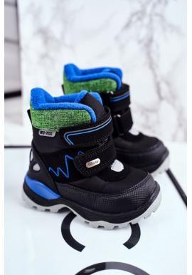 Čierne zimné topánky pre chlapcov