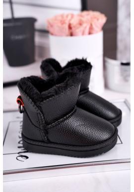Teplé detské snehule v čiernej farbe