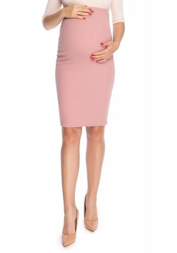 Elegantná ružová tehotenská sukňa klasického strihu