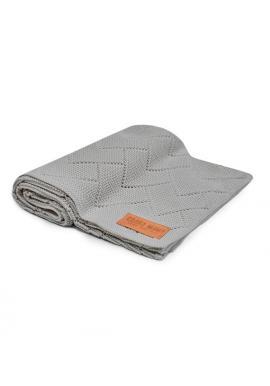 Sivá 100% bambuová pletená deka