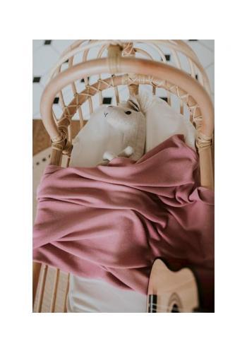 Bambusová ľahká deka pre deti v staroružovej farbe