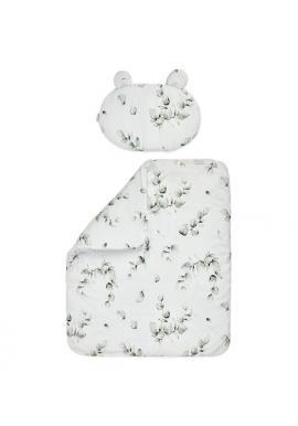 Detská bambsová posteľná sada s výplňou - EUKALIPTUS