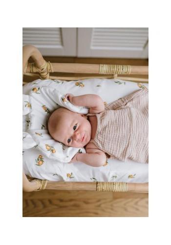 Detské prestieradlo na oválny matrac do kočíka 100% bavlna - SECRET