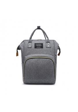 Funkčný ruksak pre mamičky a oteckov v sivej farbe