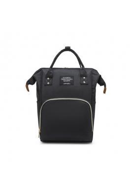 Čierny funkčný ruksak pre mamičky a oteckov