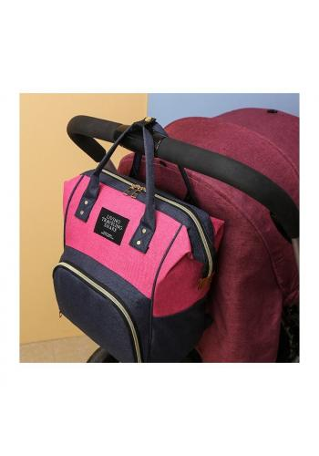 Funkčný ruksak pre mamičky a oteckov v ružovo-modrej farbe