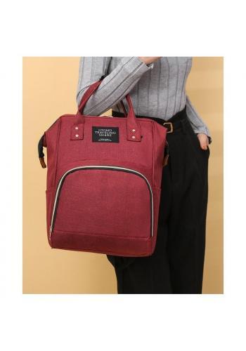Bordový funkčný ruksak pre mamičky a oteckov