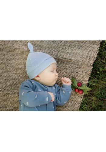 Pruhovaná detská čiapka s uzlom