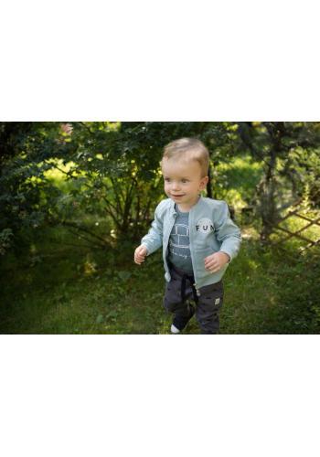 Detská modrá mikina na zips