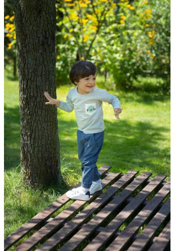 Klasické modré nohavice pre deti