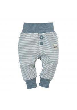 Vzorované nohavice s ozdobnými gombíkmi