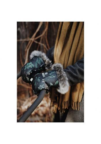 Vodeodolné rukavice na kočiar s bylinkovým motívom