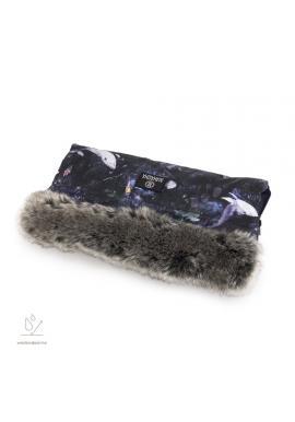 Vodeodolný rukávnik na madlo kočiara s motívom magického lesa