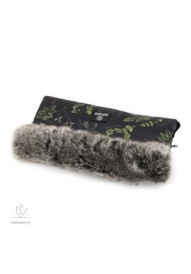 Vodeodolný rukávnik na madlo kočiara s bylinkovým motívom