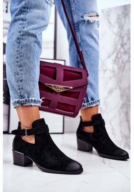 Čierne dámske topánky na vysokom podpätku