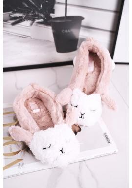 Ružové kožušinové papuče s ovečkou pre dámy