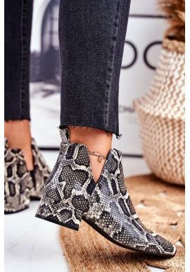 Štýlové dámske topánky s hadím vzorom