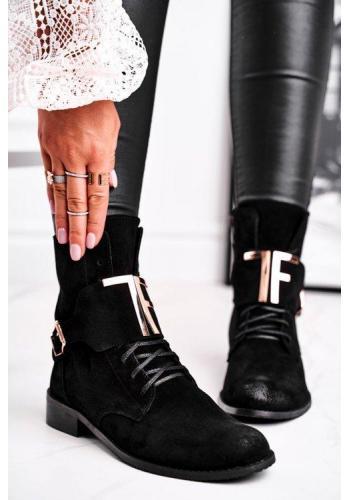 Čierne módne dámske topánky