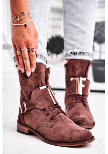 Hnedé štýlove topánky pre dámy