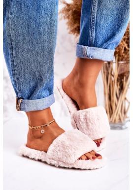 Teplé dámske papuče v béžovej farbe