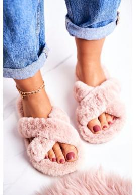 Béžové trendy papuče pre dámy