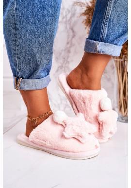 Svetloružové papuče s hviezdou pre dámy