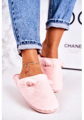 Dámske svetloružové papuče s ušami pre dámy