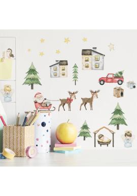 Sada nálepiek s vianočným motívom - 36 ks