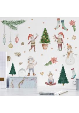 Sada nálepiek s vianočným motívom