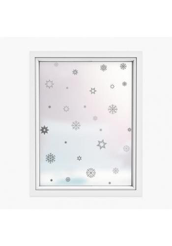 Vianočná sada nálepiek v podobe snehových vločiek a hviezd
