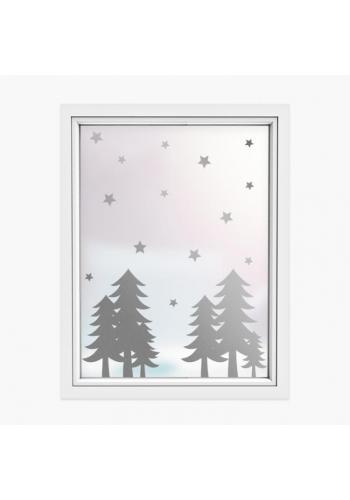 Sada nálepiek v podobe vianočných stromčekov a hviezd