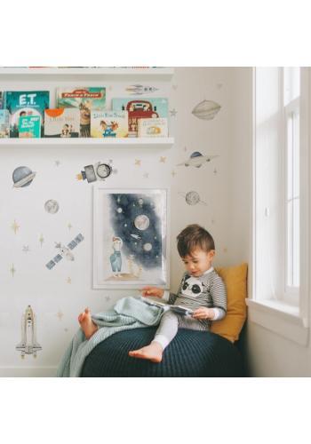 Detský plagát s vesmírnym motívom