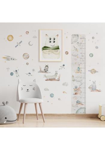 Detský plagát s priateľským vesmírnym tvorom
