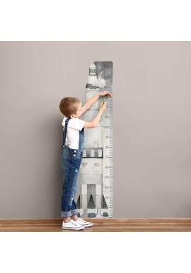 Detský výškový meter na stenu s vesmírnym motívom rakety