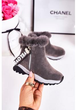 Trendy sivé oteplené snehule pre dievčatá